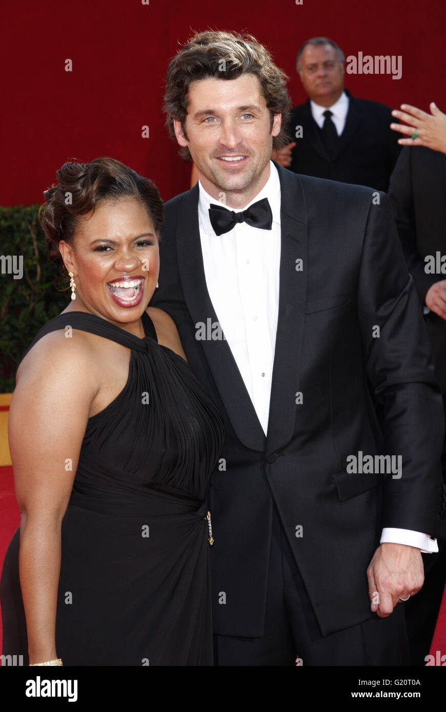 LOS ANGELES, CALIFORNIA - Sunday September 21, 2008. Patrick Dempsey and Chandra Wilson at the 60th Primetime EMMY - Stock Image