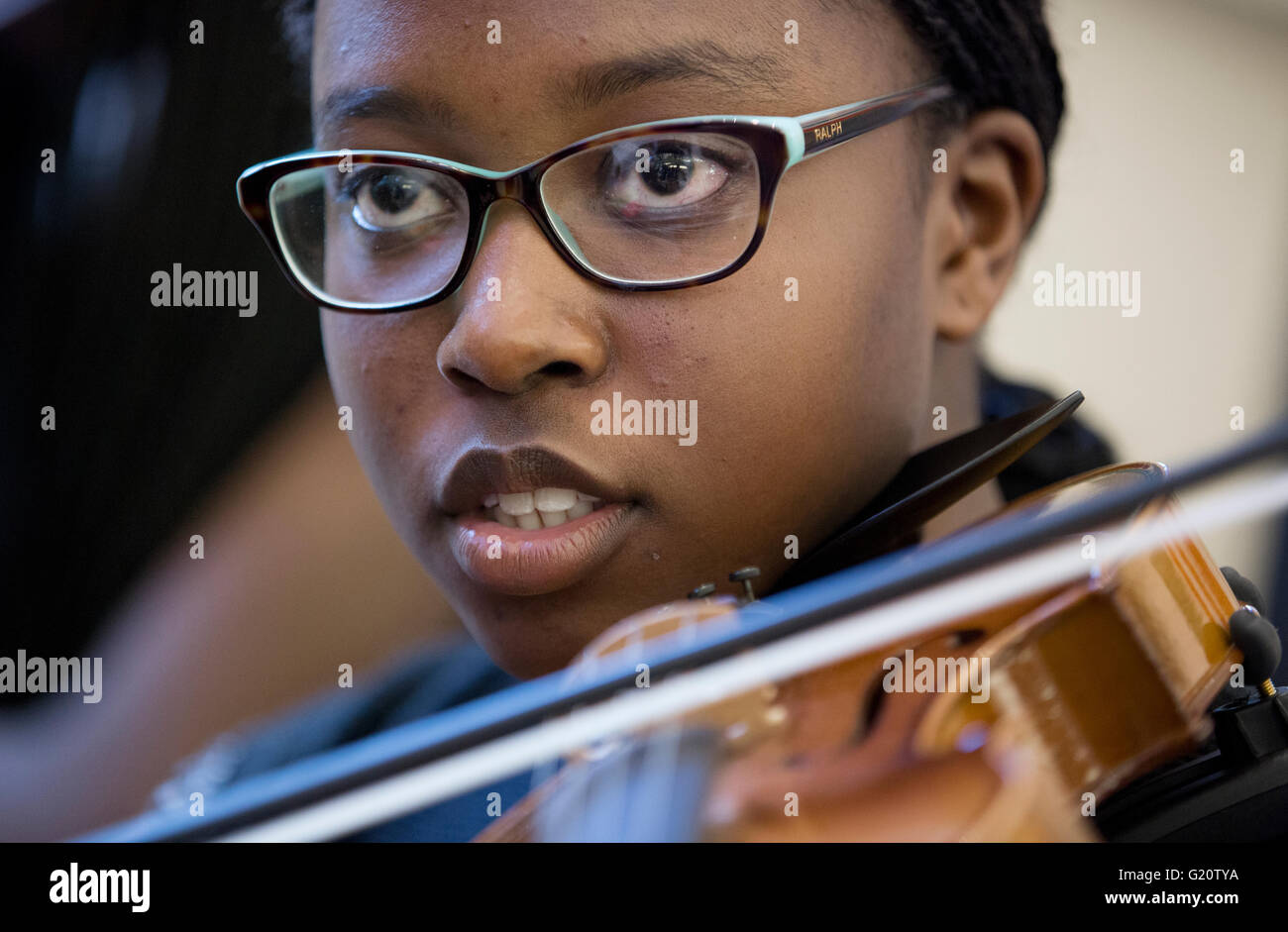 High School student orchestra - Stock Image
