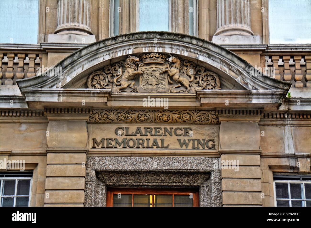 St Marys hospital, London, front view of the Clarence memorial wing.  St Mary's Hospital is the major acute - Stock Image