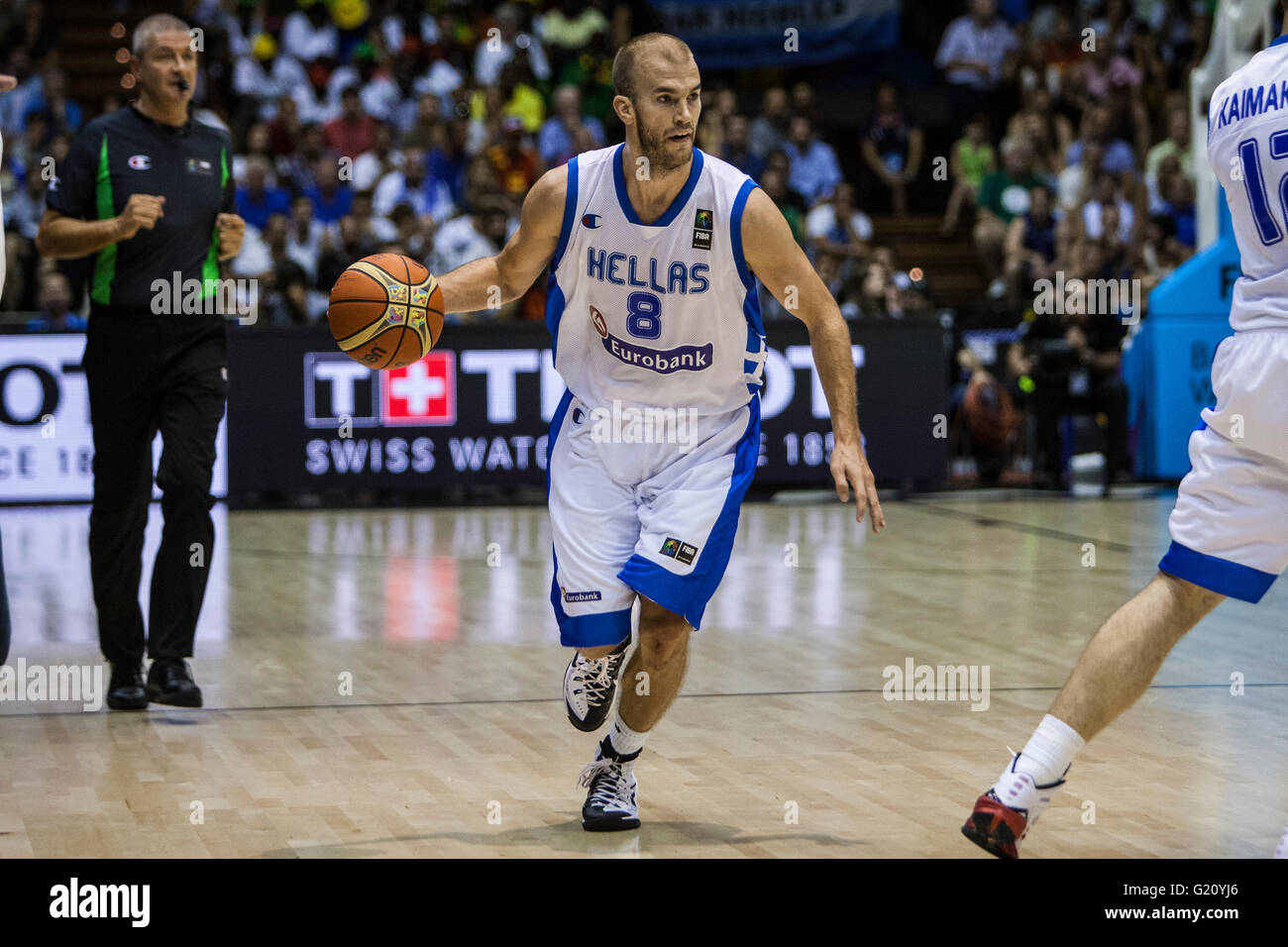 Nick Calathes, player of Croatia, drives the ball during FIBA Basketball World Cup 2014 Group Phase match, on September - Stock Image