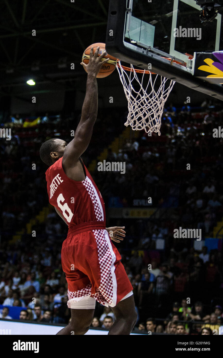 Oliver Lafayette, player of Croatia, makes a shot during FIBA Basketball World Cup 2014 Group Phase match, on September - Stock Image