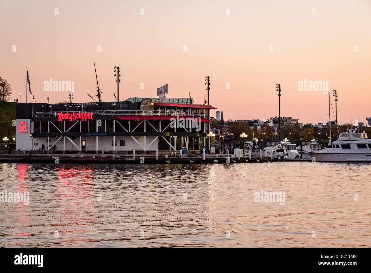 Rusty Scupper Seafood Restaurant Inner Harbor Baltimore