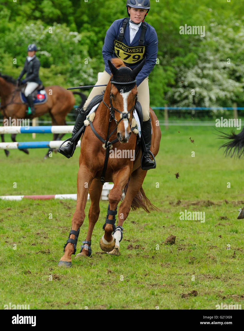 Rockingham Castle, Northamptonshire, UK. 21st May, 2016. Zara Tindall - Rockingham Castle International Horse Trials, Stock Photo