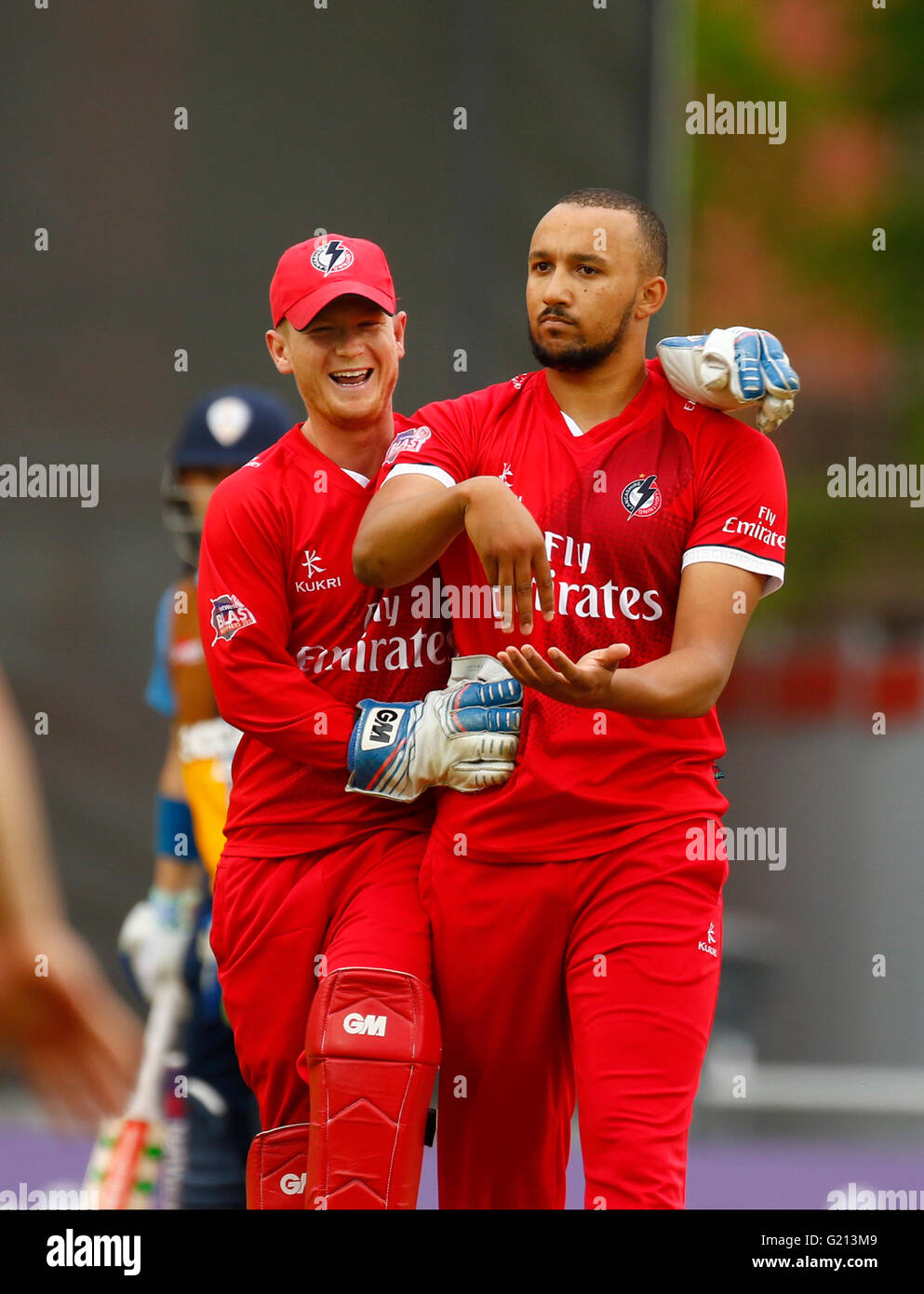 Old Trafford, Manchester, UK. 21st May, 2016. Natwest T20 Blast. Lancashire Lightning versus Derbyshire Falcons. - Stock Image