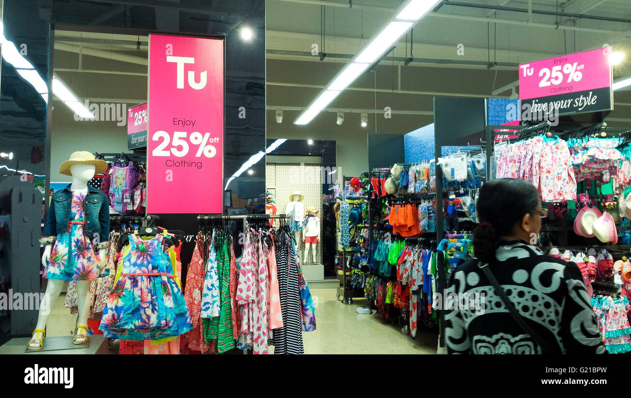 Supermarket giant Sainsbury's launch their latest Tu clothing sale in-store and online. © Dinendra Haria/Alamy Live Stock Photo