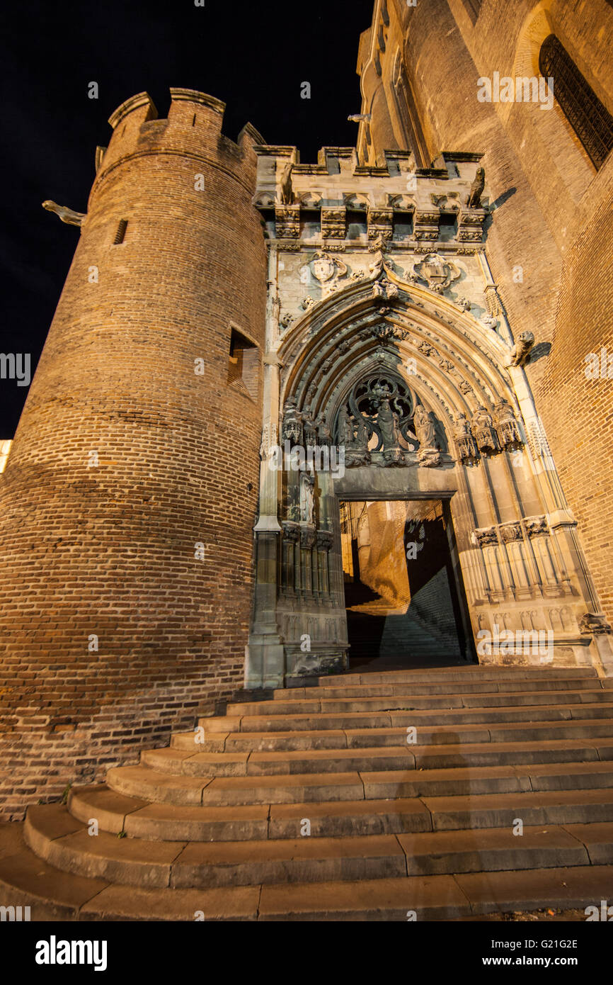 Sainte Cécile Cathedral in Albi (Tarn,France) - Stock Image