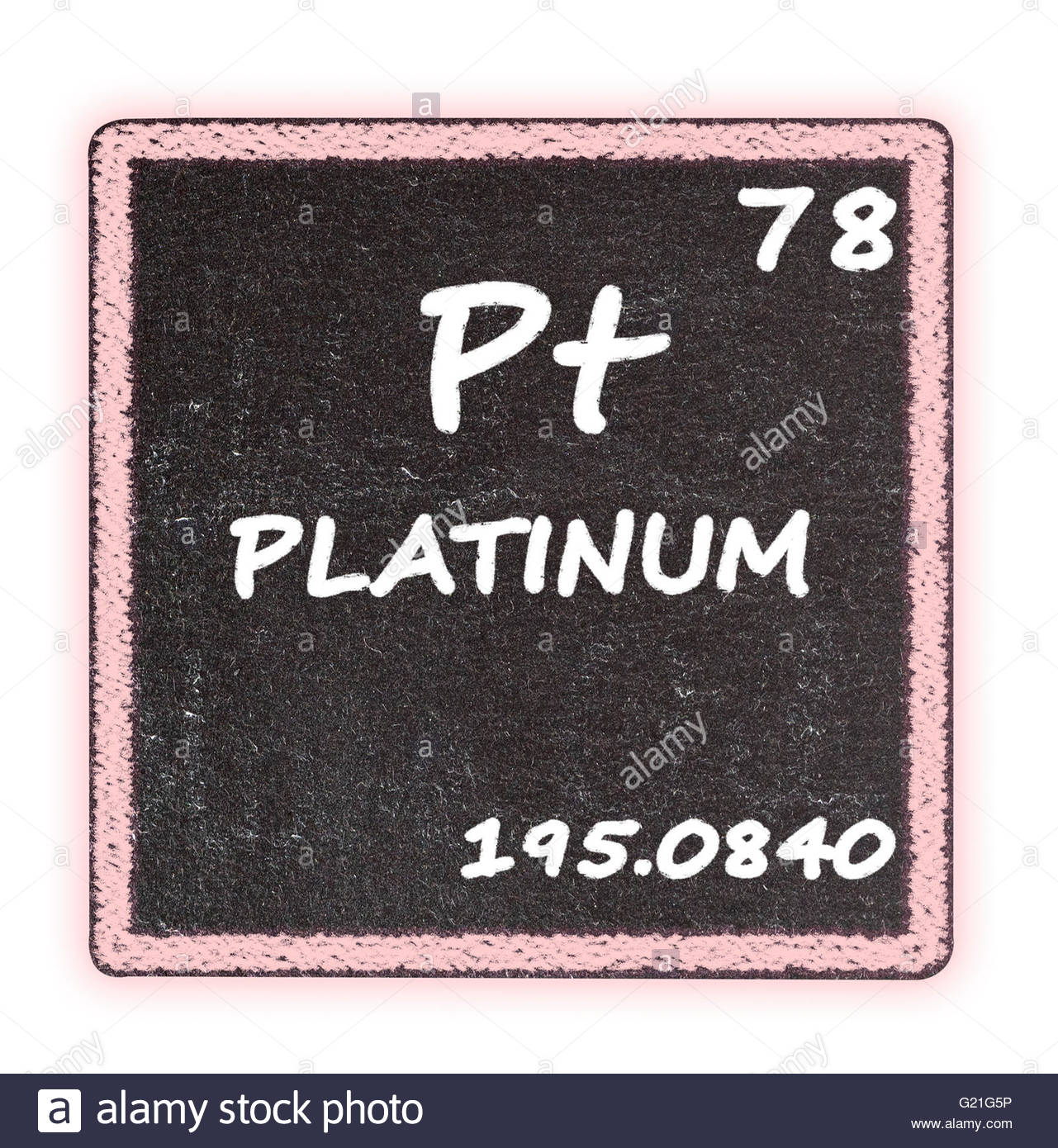 Platinum Details From The Periodic Table Stock Photo
