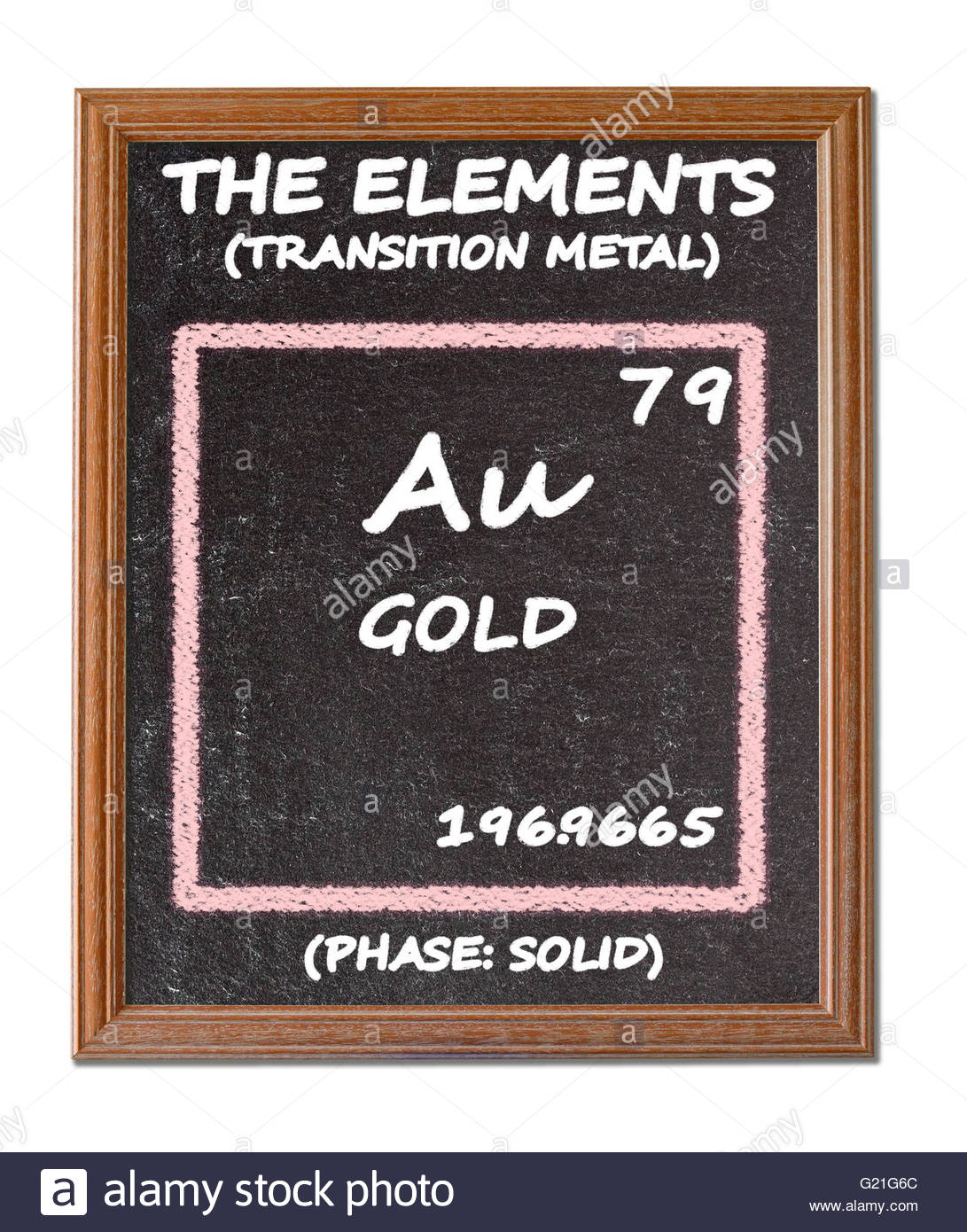 Symbol Au Chemical Element Gold Cut Out Stock Images Pictures Alamy