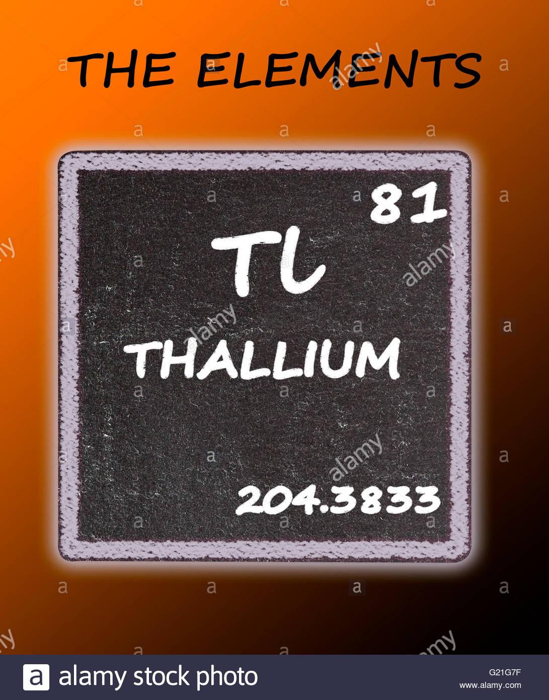 Thallium Details From Periodic Table Stock Photos Thallium Details