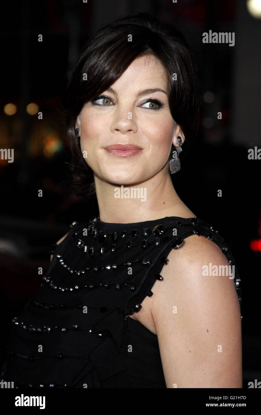 Michelle Monaghan at the Los Angeles Premiere of 'Eagle Eye' held at the Grauman's Chinese Theater in - Stock Image