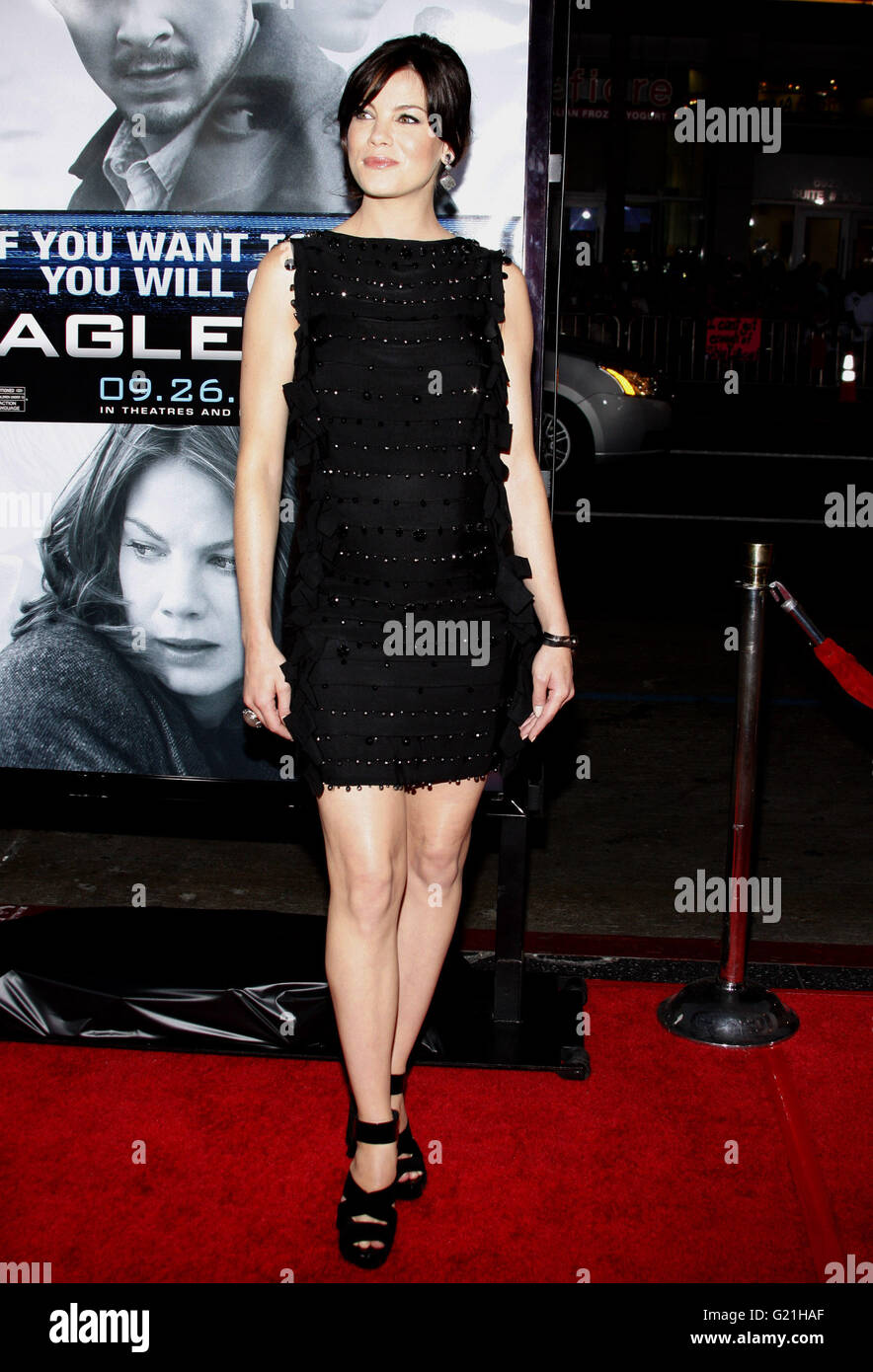 MAVRIXPHOTO.COM Michelle Monaghan at the Los Angeles Premiere of 'Eagle Eye' held at the Grauman's Chinese - Stock Image