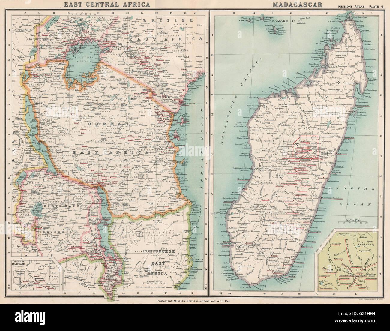 German east africa madagascar protestant missions tanzania kenya german east africa madagascar protestant missions tanzania kenya 1911 map gumiabroncs Gallery