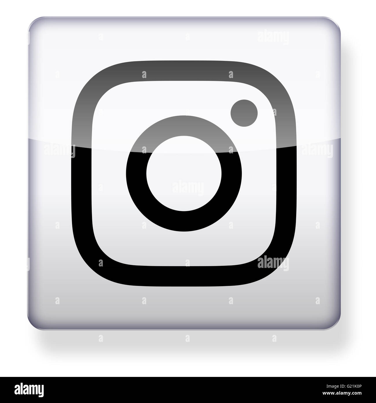New Instagram logo as an app icon. Clipping path included. - Stock Image