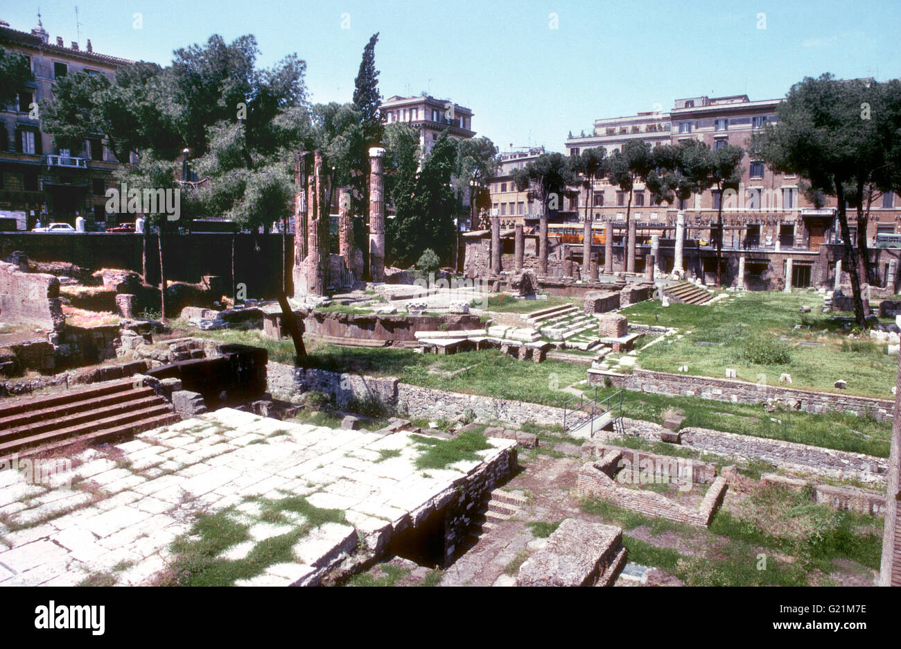 FORUM ROMANUM ruins from ancient times - Stock Image