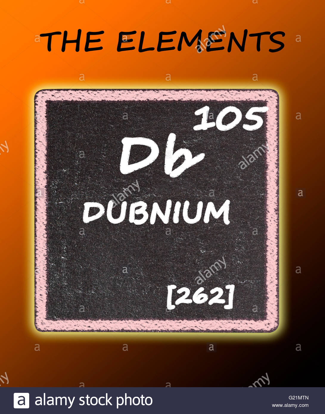 Dubnium details from the periodic table stock photo 104529845 alamy dubnium details from the periodic table urtaz Choice Image