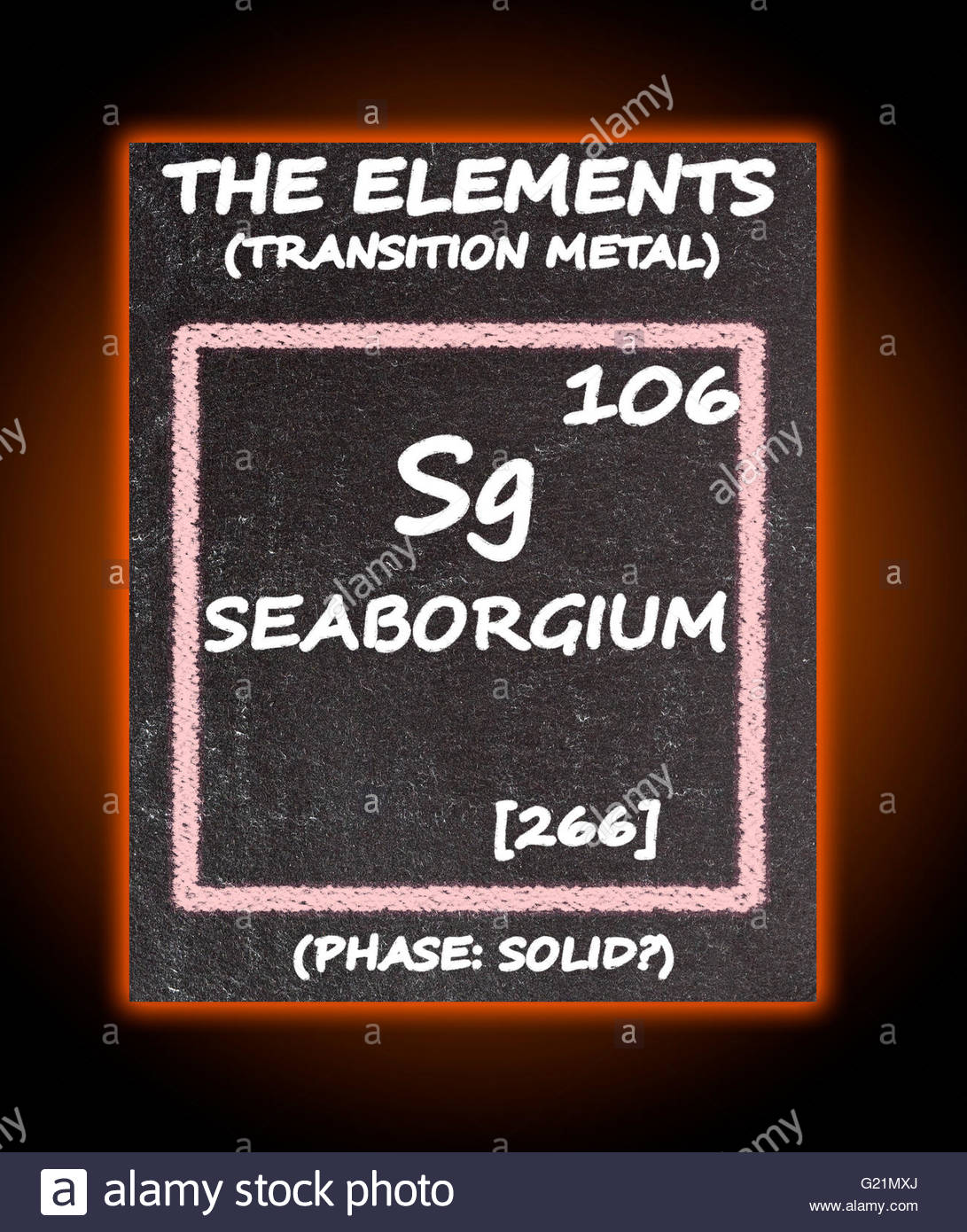 Seaborgium Details From Periodic Table Stock Photos Seaborgium