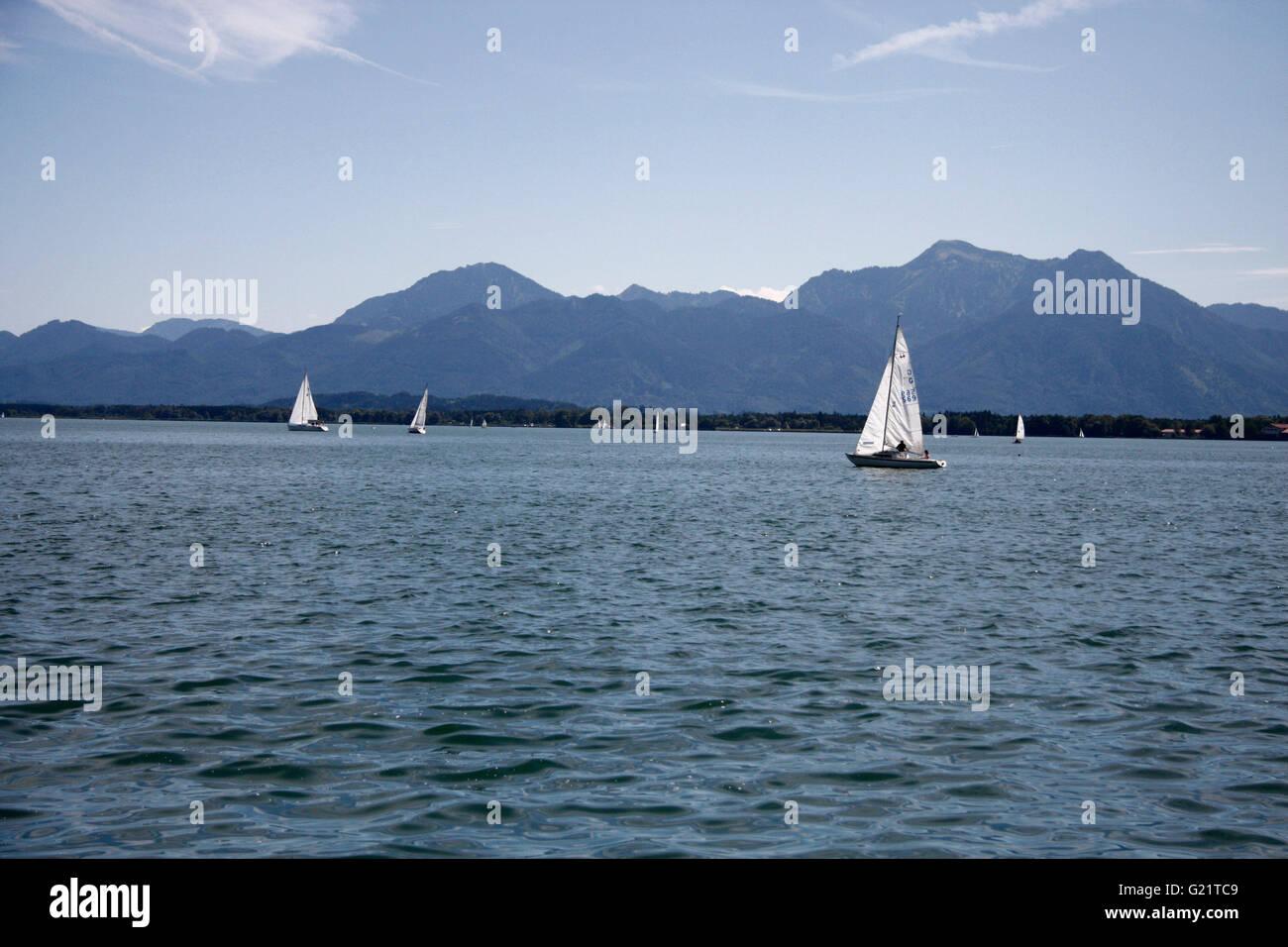 Chiemsee, Bayern. - Stock Image