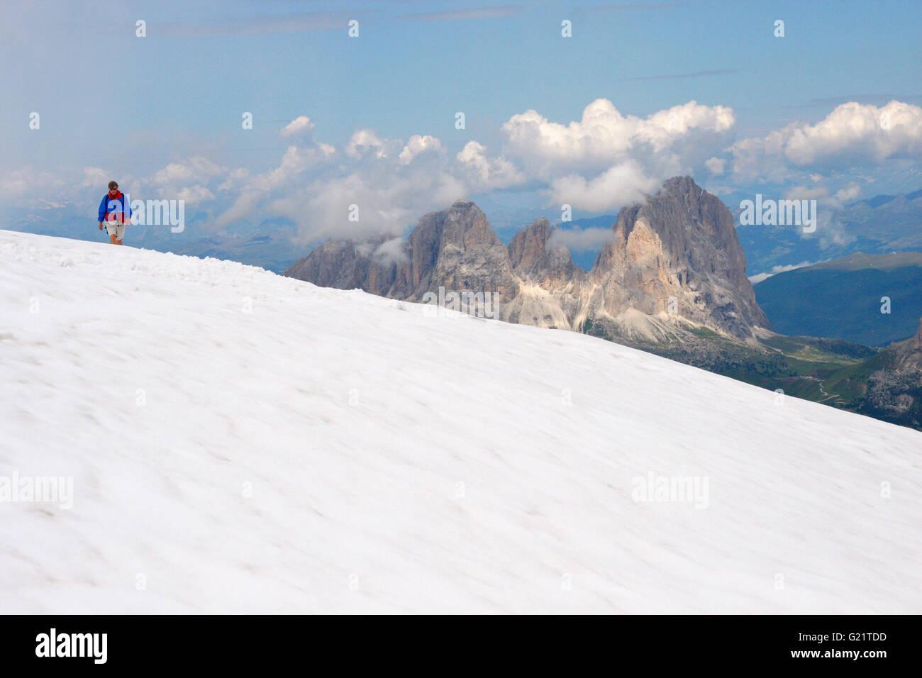 Marmolada, Dolomiten, Italien. - Stock Image