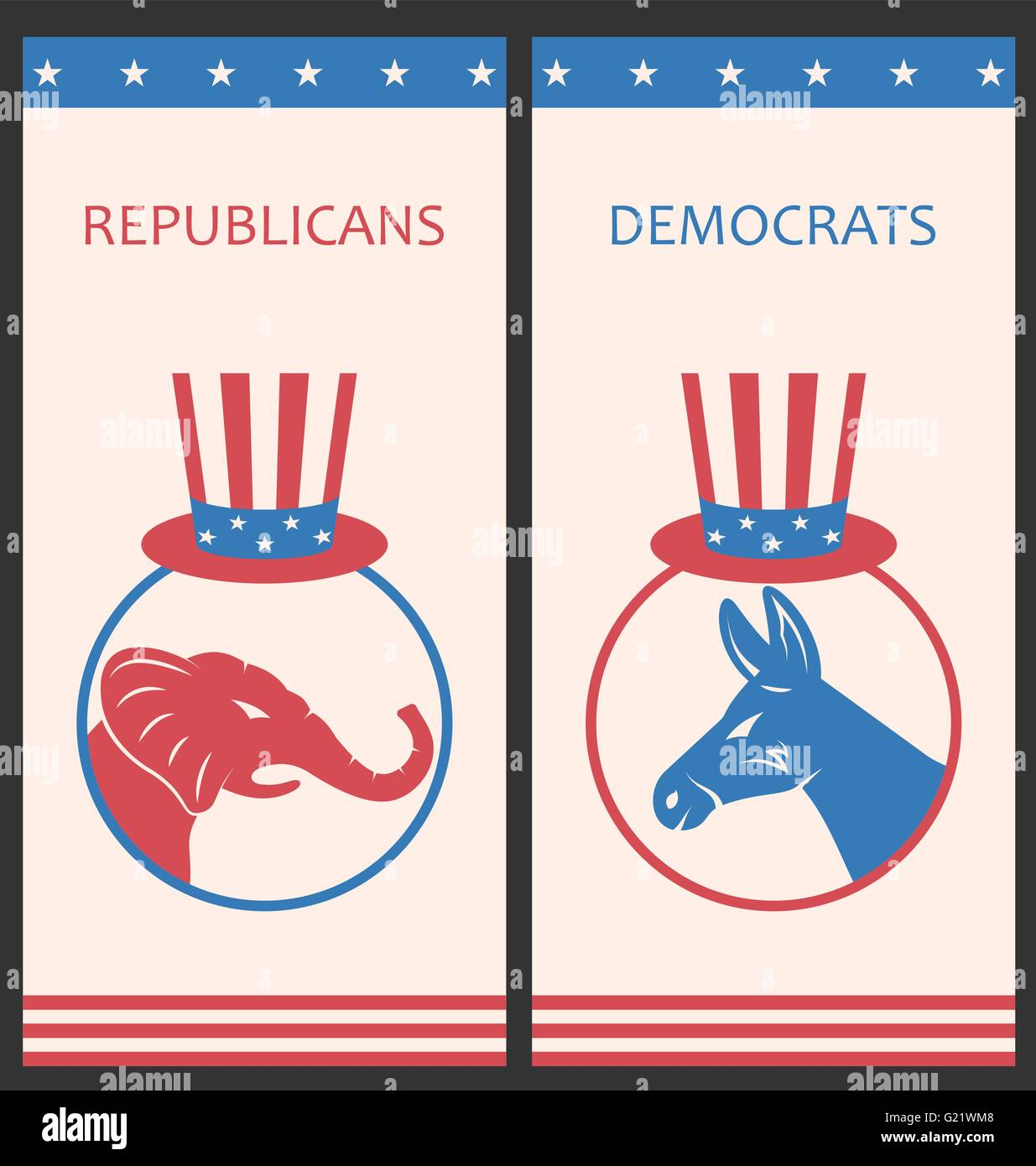 Brochures for Advertise of United States Political Parties - Stock Image
