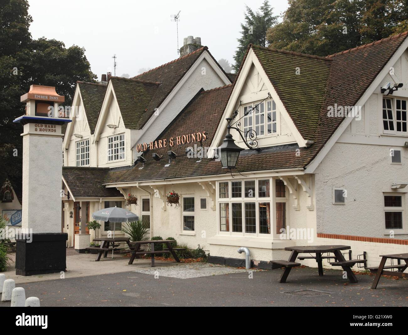 The Old Hare and Hounds pub, Rednal, Birmingham - Stock Image