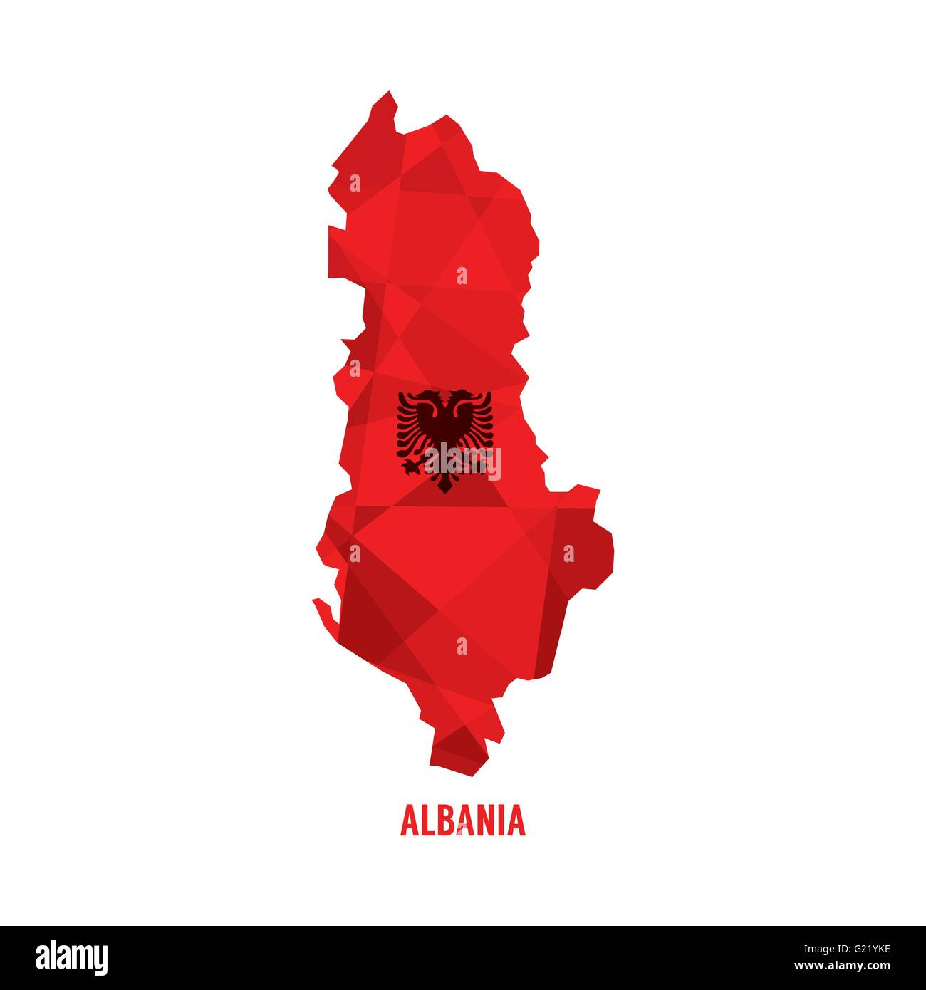 Map of Albania Vector Illustration - Stock Vector