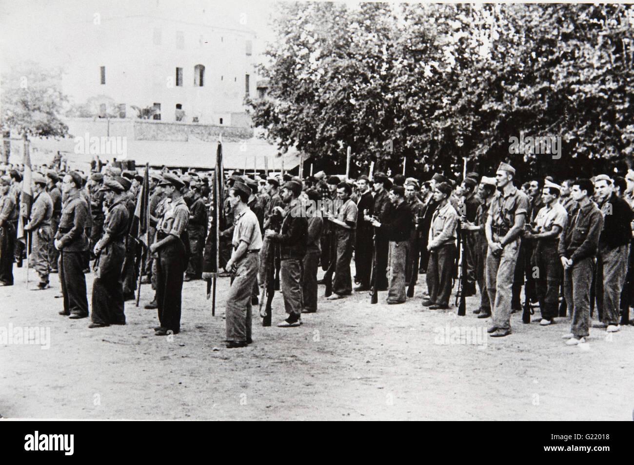 Loyalist International Brigade Disbands, Tortosa  -  Museo Reina Sofia - Stock Image