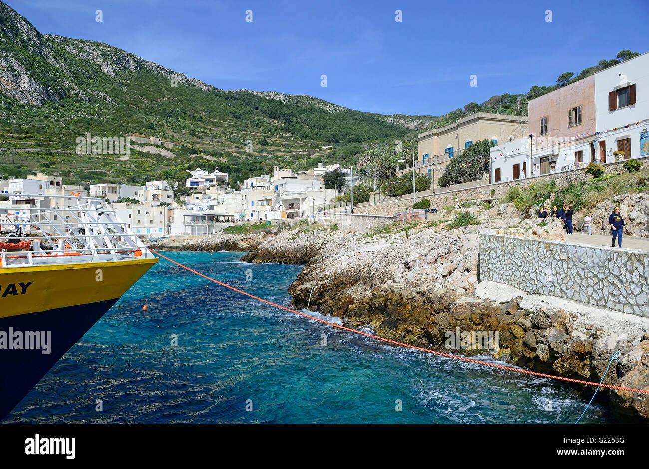 Levanzo, Egadi Island, Sicily, Italy, Mediterranean, Europe Stock ...