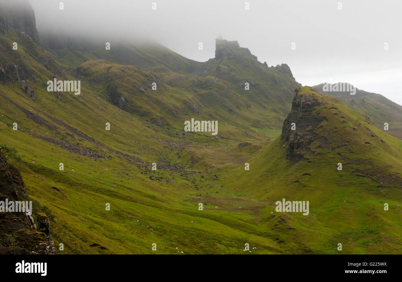 Quiraing mountain range landscape in Trotternish area on the Isle of Skye in Scotland, UK. - Stock Image