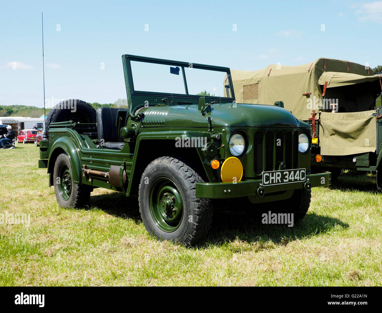 British Army Austin 'Champ' officially known as 'Truck, 1/4 ton, CT, 4×4, Cargo & FFW, Austin - Stock Image