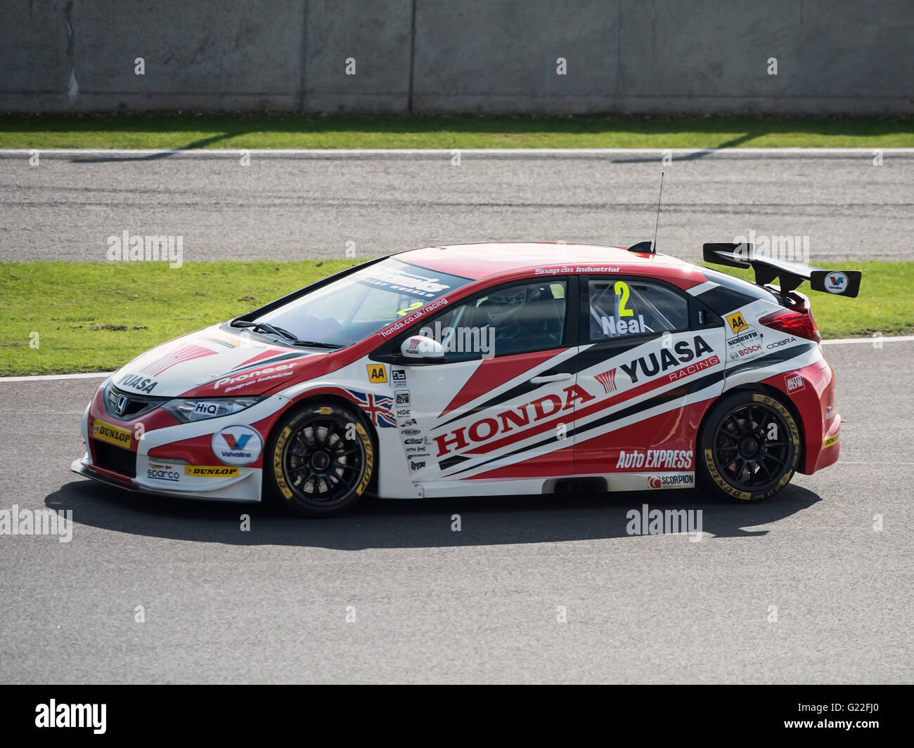 British Touring Cars BTCC 2013 at Silverstone race track - Stock Image
