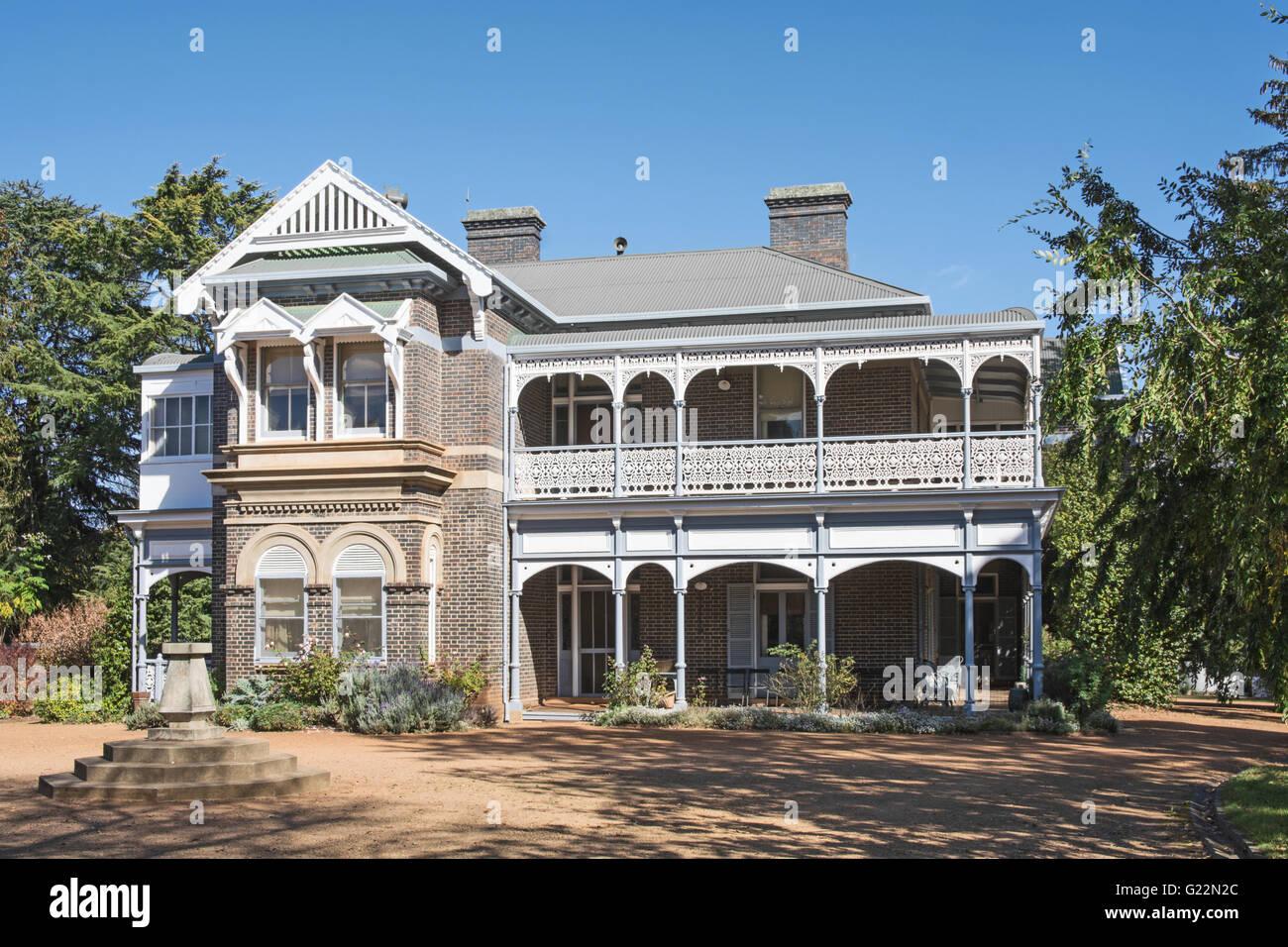 Saumarez Homestead, a National Trust building at Armidale NSW Australia - Stock Image
