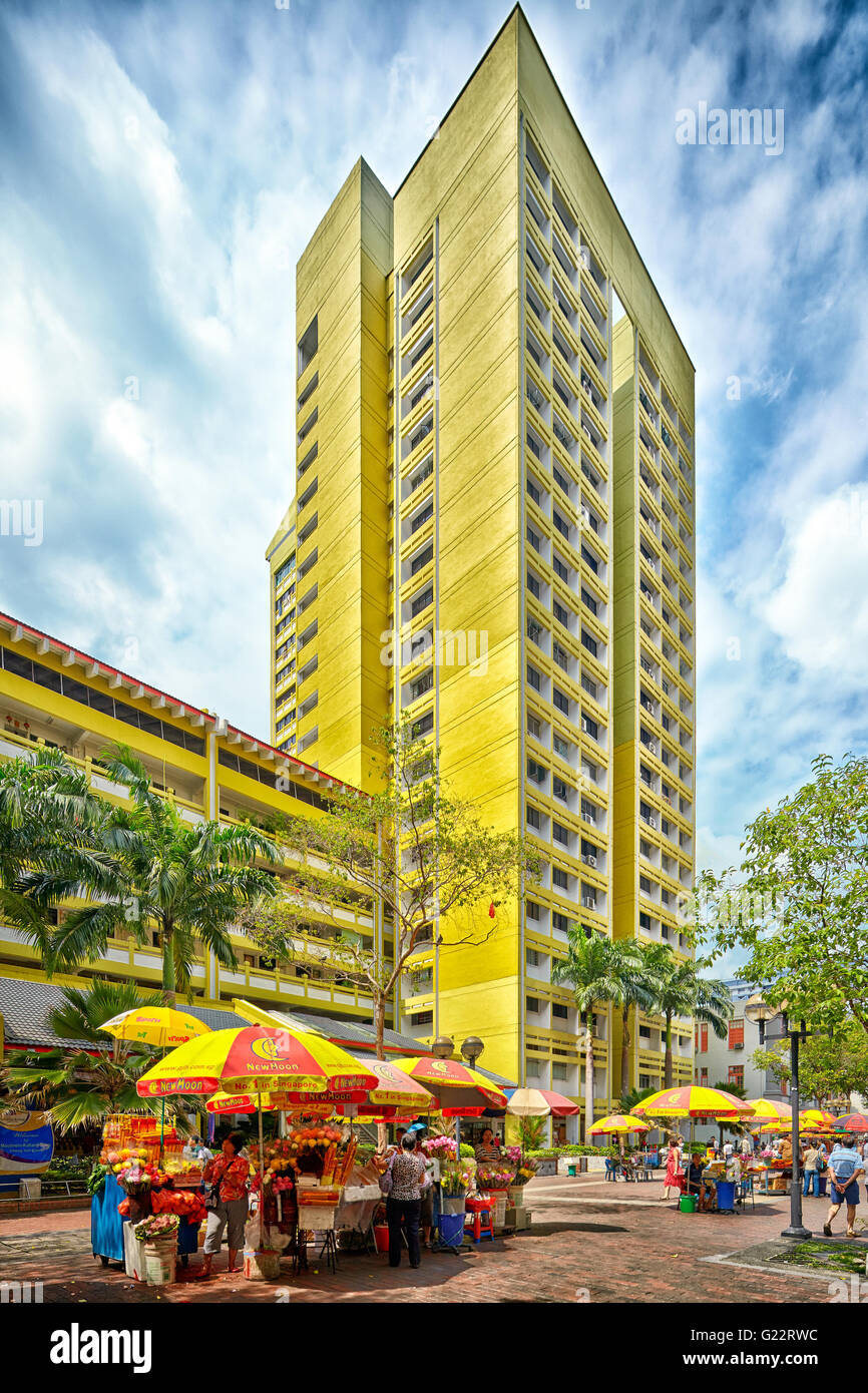 Public housing off Bencoolen Link in Singapore on July 11, 2012. - Stock Image