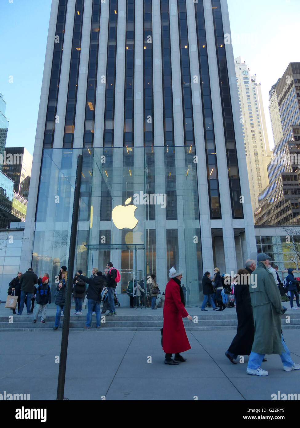 New York City, Apple Store At 59th Street Stock Photo