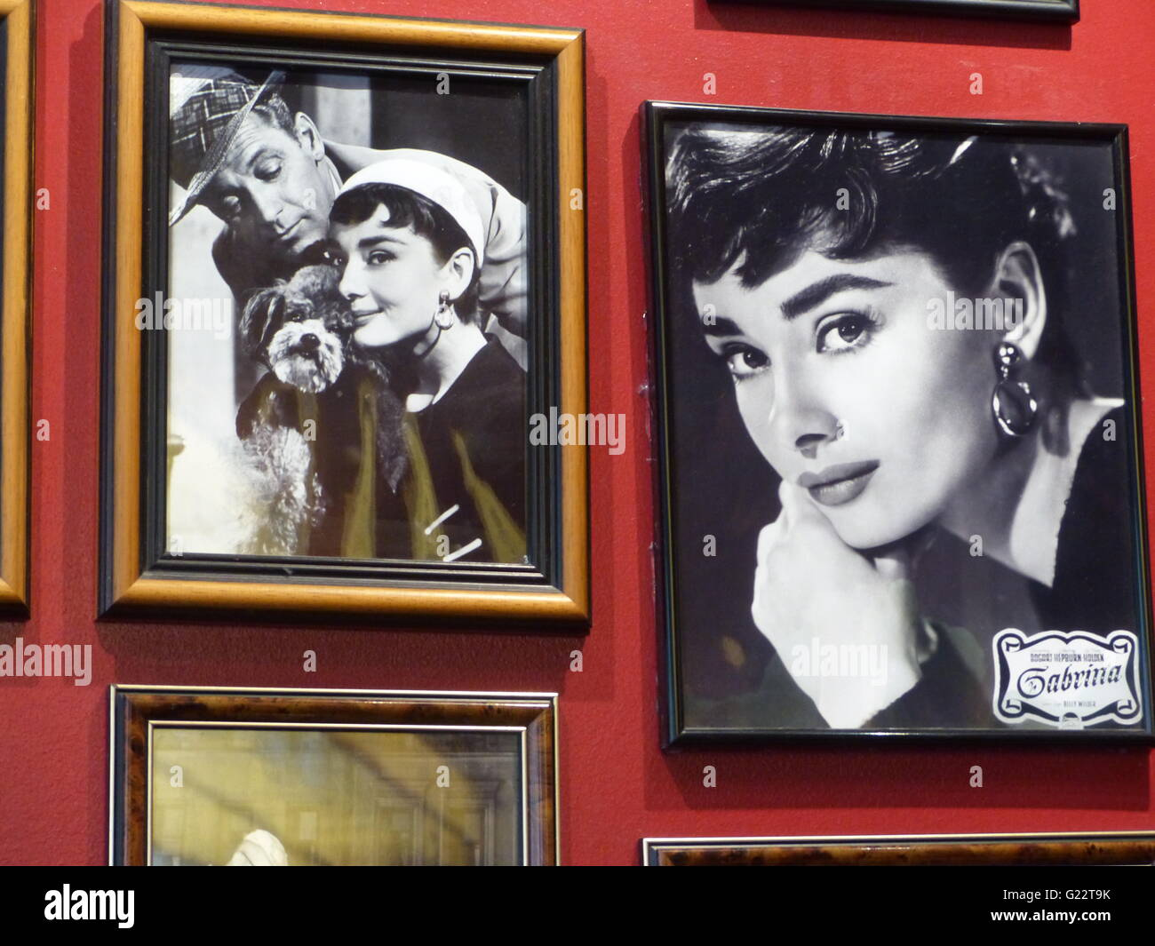 Berlin - Germany. Billy Wilder bar and restaurant with Audrey Hepburn photographs - Stock Image