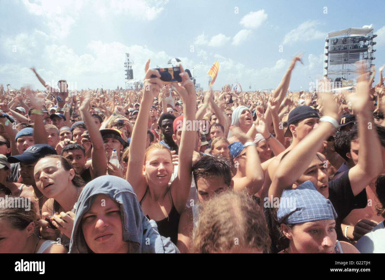 Fans Applauding The Band At Woodstock 99 Festival Rome New York