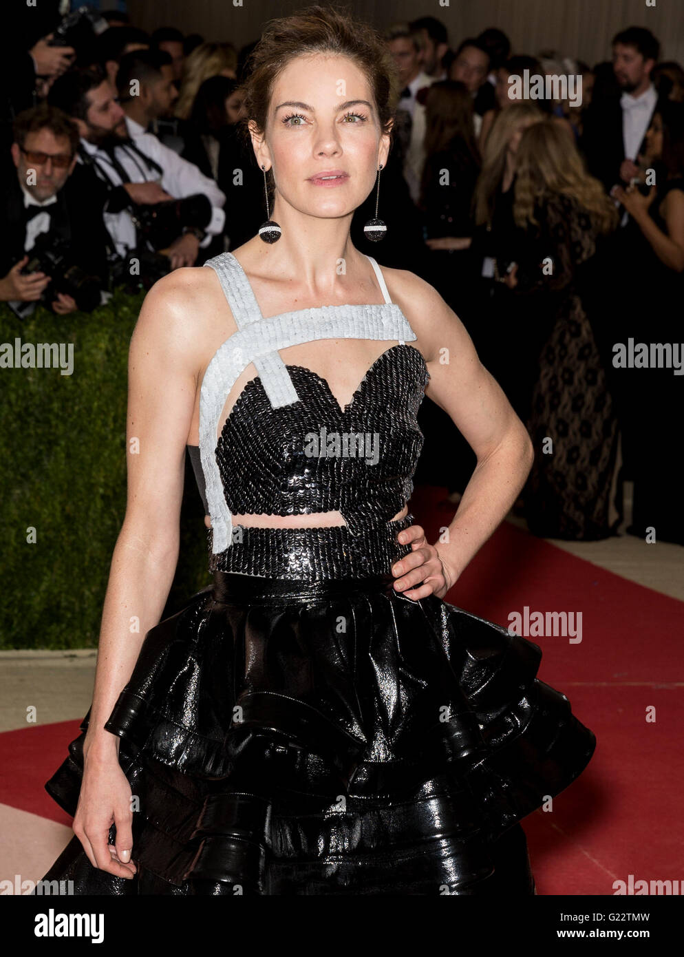 New York City, USA - May 2, 2016: Actress Michelle Monaghan attends the 2016 Met Gala - Stock Image