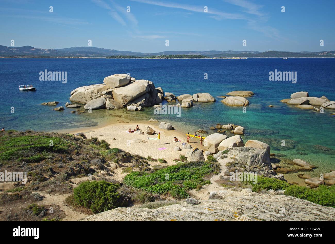 Palau, Sardinia: Talmone beach - Stock Image