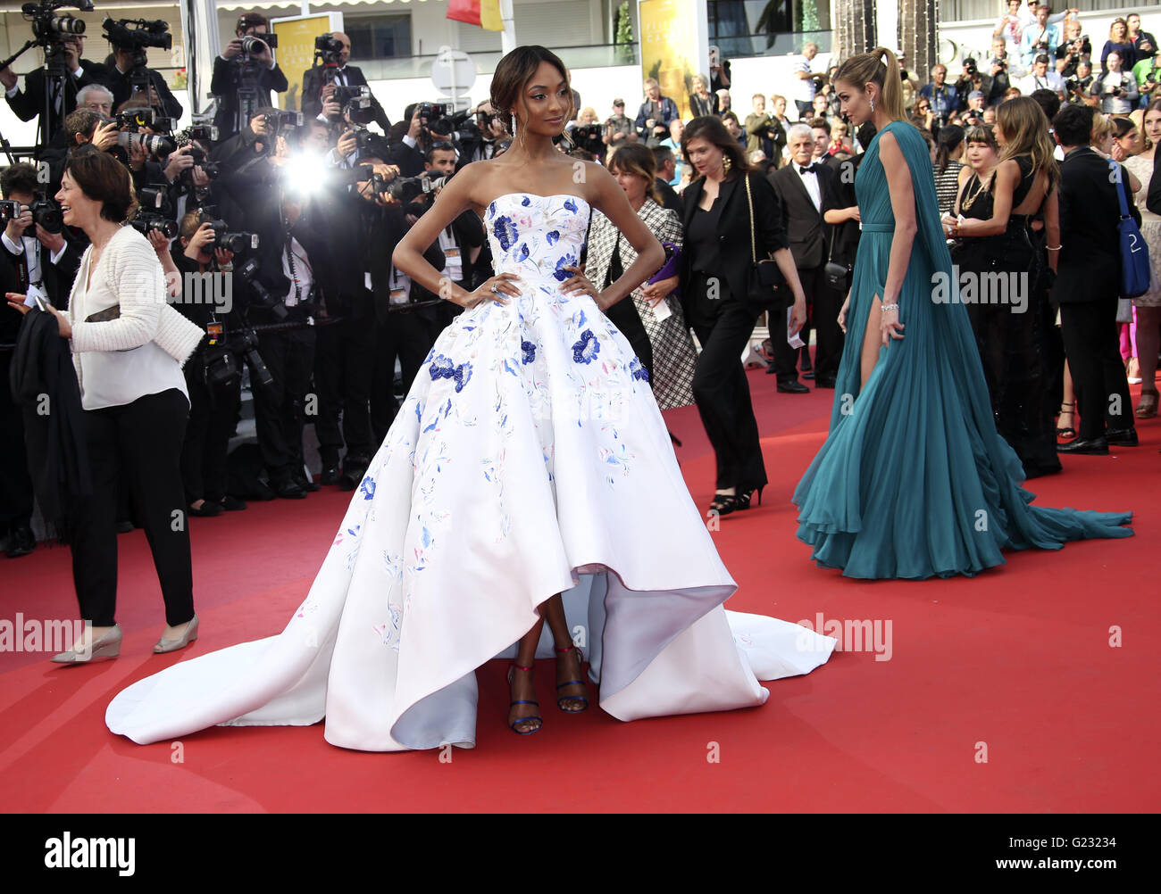 Model Jourdan Dunn poses for photographers upon arrival at the screening of the film La Fille Inconnue (The Unkown - Stock Image