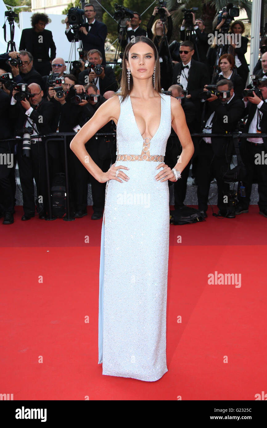 Model Alessandra Ambrosio poses for photographers upon arrival at the screening of the film La Fille Inconnue (The - Stock Image