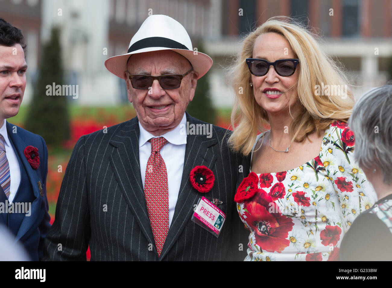 London, UK. 23 May 2016. Rupert Murdoch and Jerry Hall. Press day at the RHS Chelsea Flower Show. The 2016 show - Stock Image