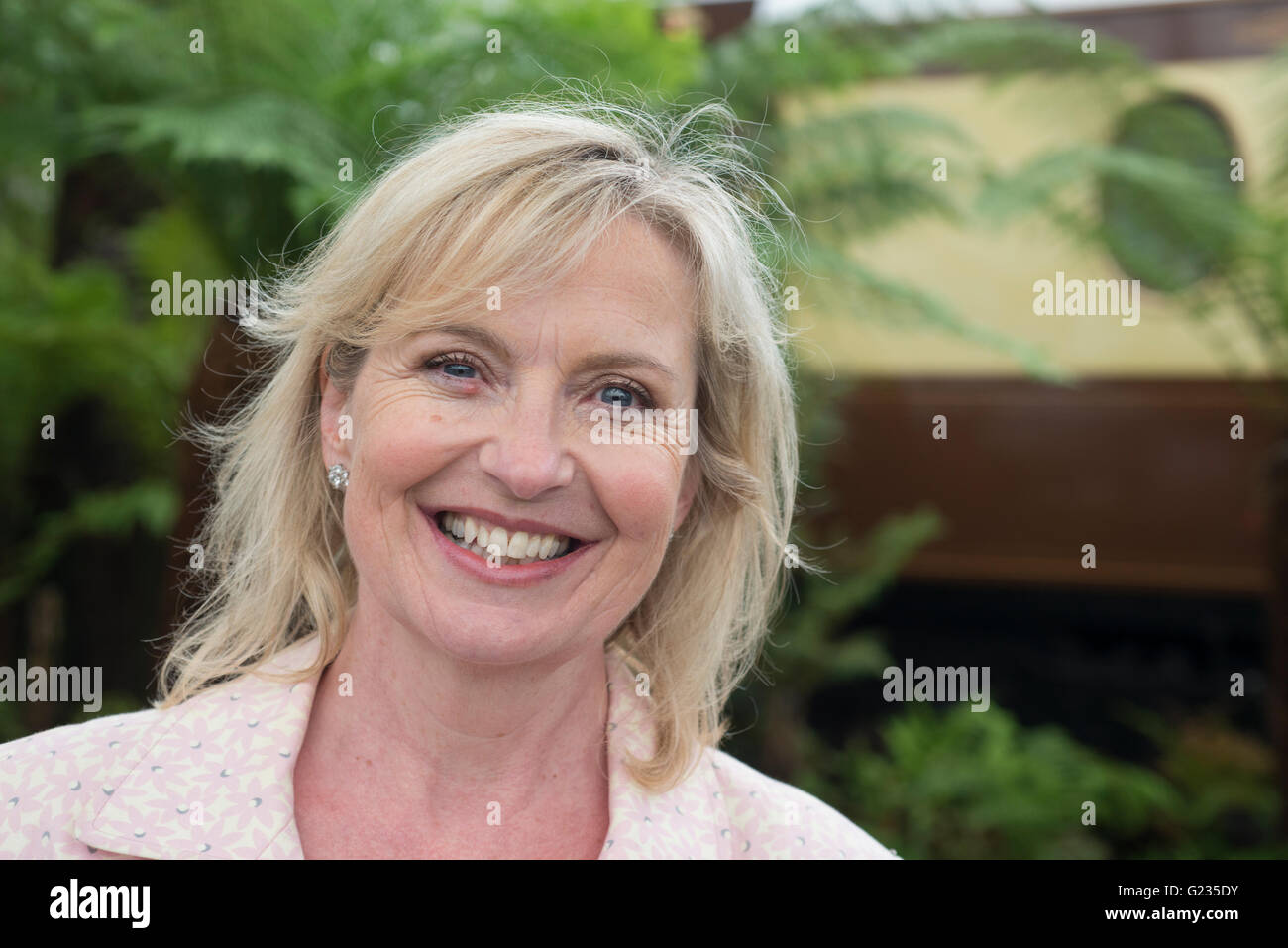 Chelsea, London UK. 23rd May 2016. BBC weather presenter Carol Kirkwood. Press Day for the world famous Chelsea - Stock Image