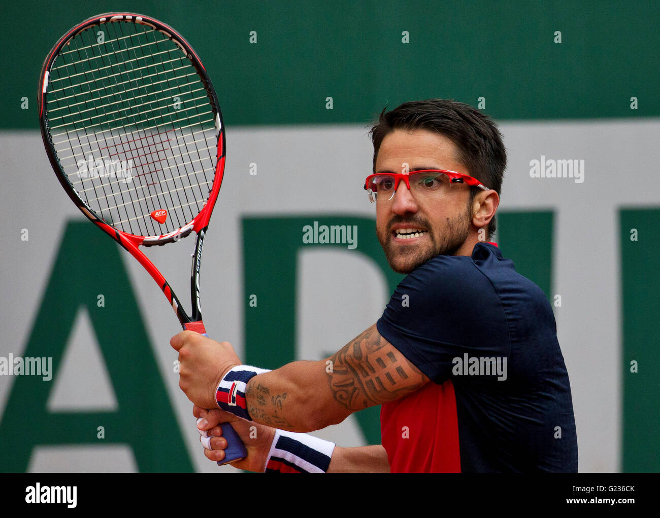 Paris, France, 23 june, 2016, Tennis, Roland Garros, Janko Tipsarevic (KAZ) Photo: Henk Koster/tennisimages.com/Alamy - Stock Image