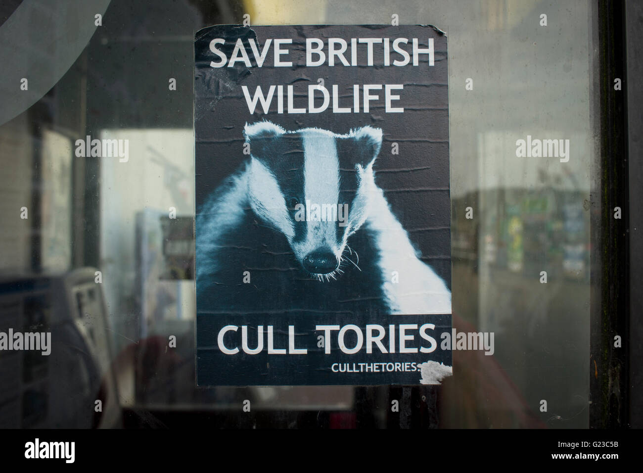 Anti Tory govt poster - Stock Image
