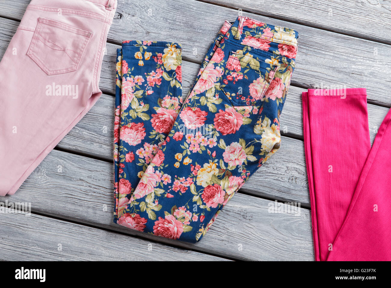 8da547d90a8f2b Floral Print Pants Stock Photos & Floral Print Pants Stock Images ...