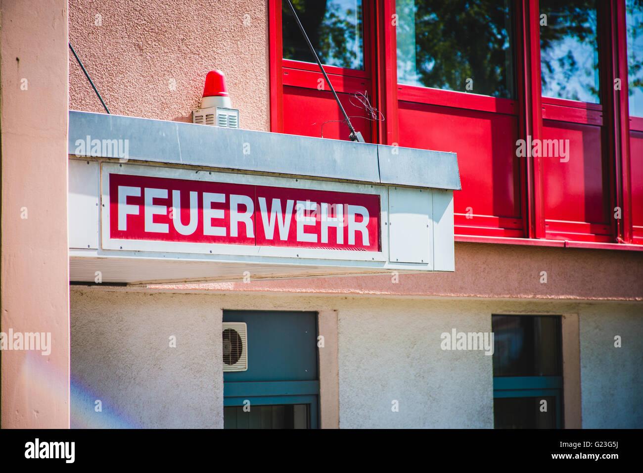 german fire department - Stock Image