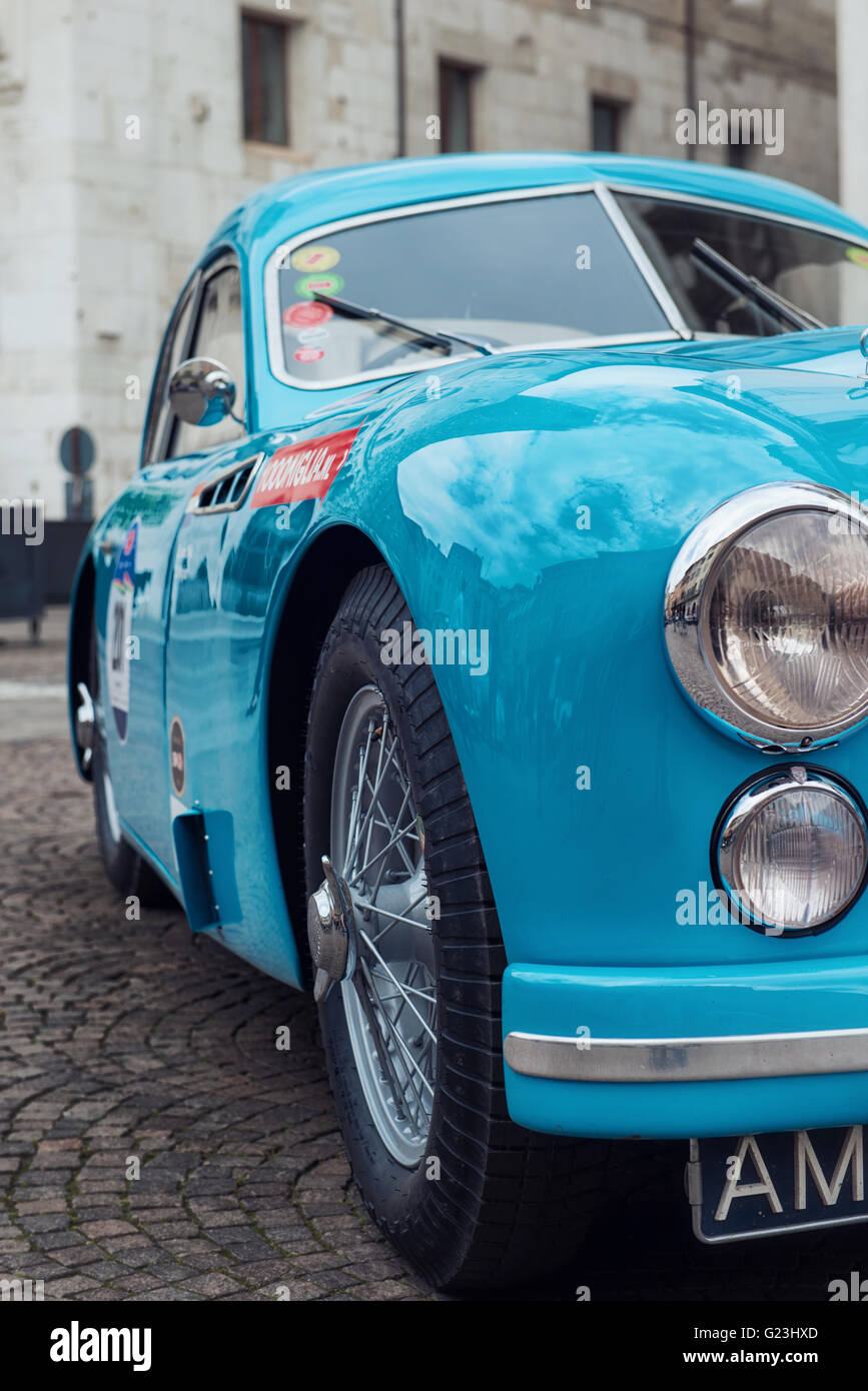 Vintage car to 1000 Miglia historic race - Stock Image