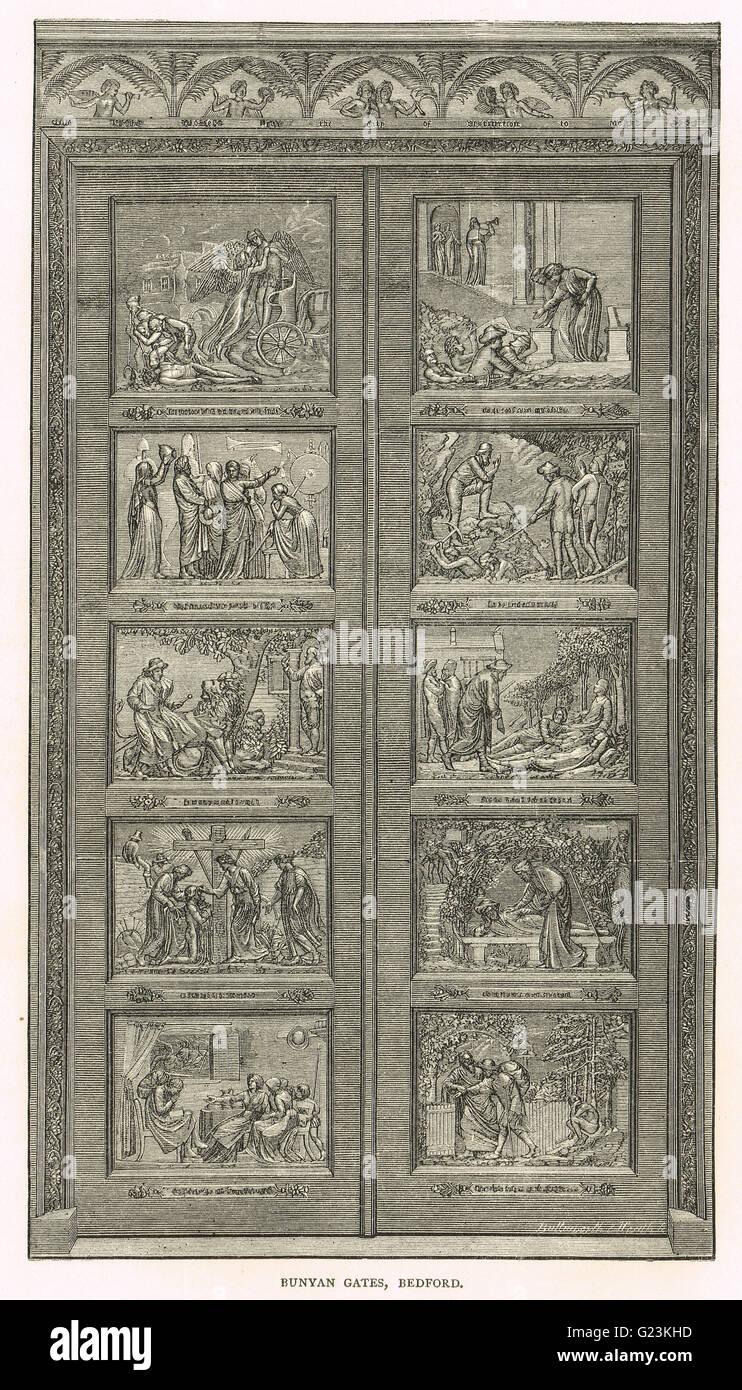 Bunyan Meeting Church, Bronze Doors - Stock Image