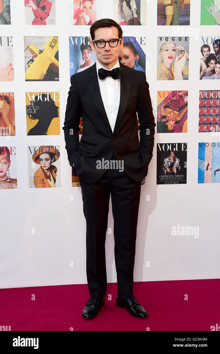 Erdem Moralioglu attending The Vogue 100 Gala Dinner at East Albert Lawn, Kensington Gardens, London. PRESS ASSOCIATION - Stock Image