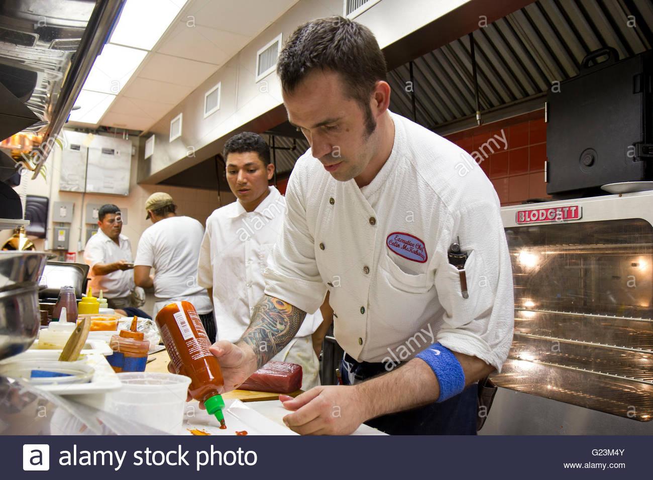 Colin McKarahay, Executive Chef at The Patio, Freeport, Long Island, NY - Stock Image