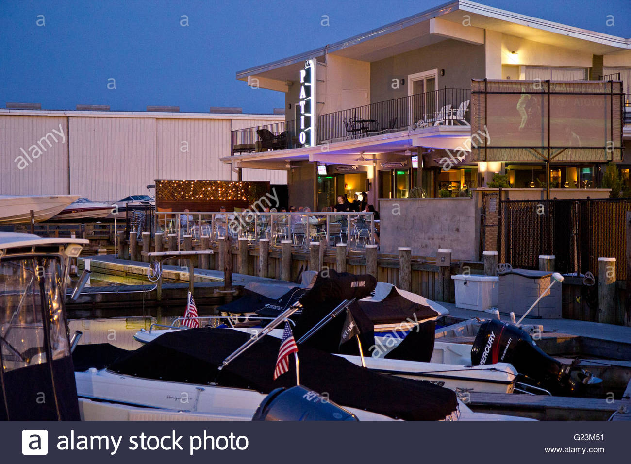 Outdoor Dining On The Canal Deck, The Patio, Freeport, Long Island, NY